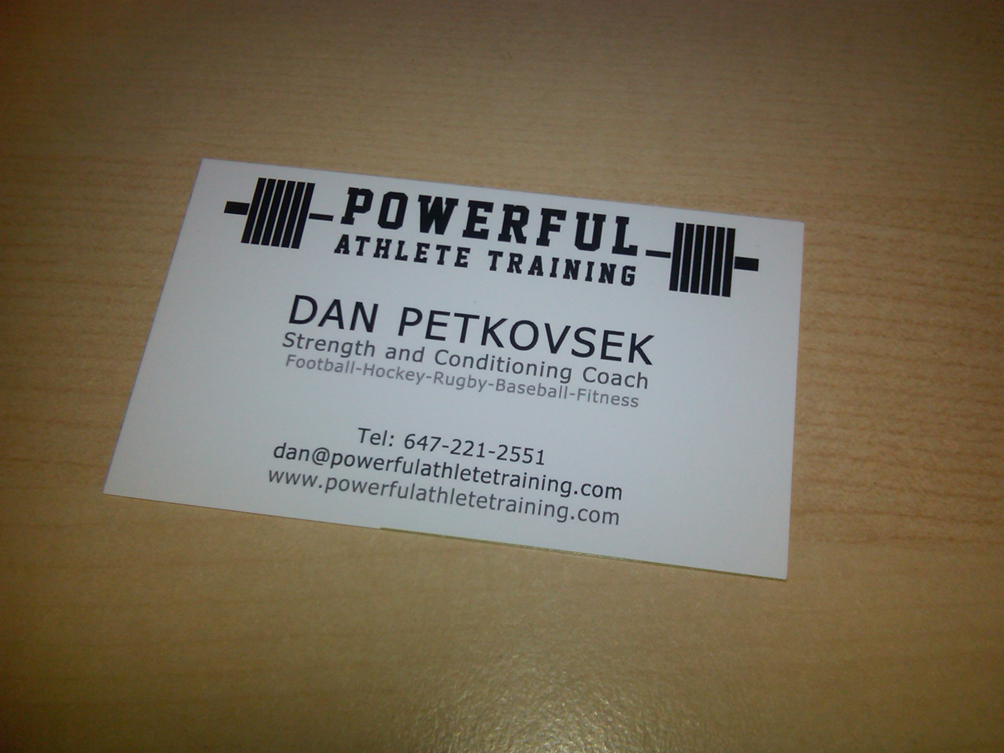 New business cards | Powerful Athlete Training